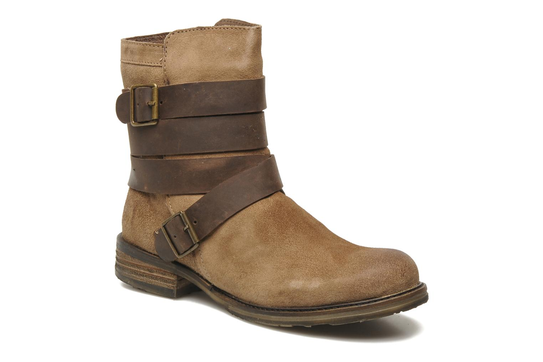 Mustang shoes Mokia (Beige) - Bottines et boots chez Sarenza (148074)