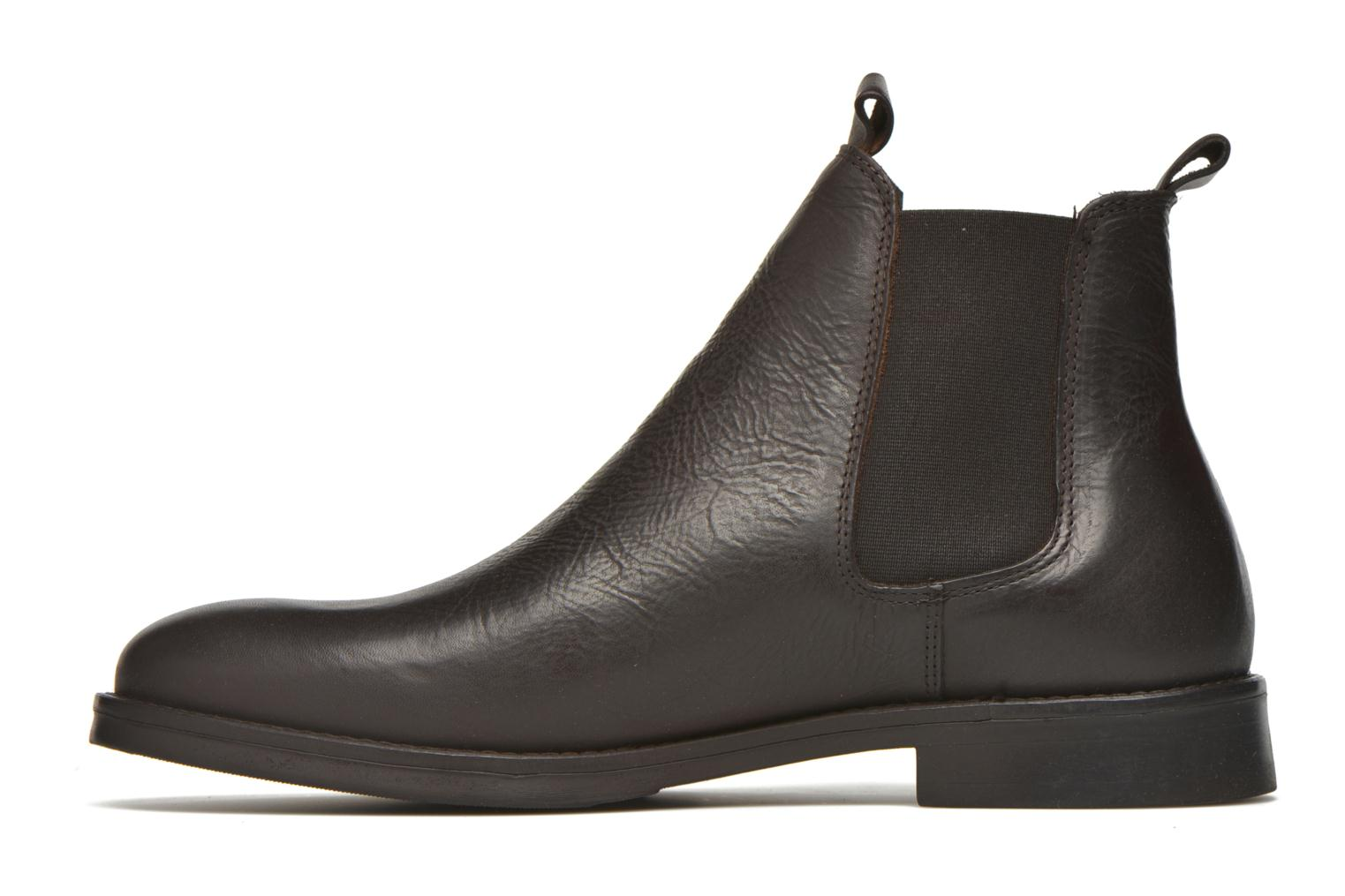 Ankle boots Selected Homme Marc Brown front view