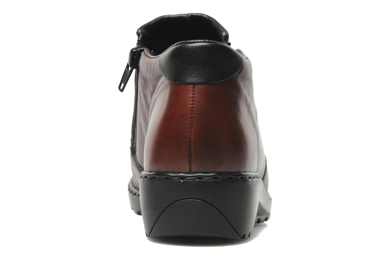 Bottines et boots Rieker Torti L6052 Bordeaux vue droite