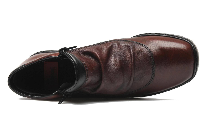 Bottines et boots Rieker Torti L6052 Bordeaux vue gauche