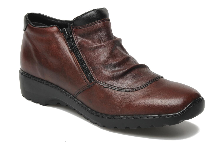 Bottines et boots Rieker Torti L6052 Bordeaux vue détail/paire