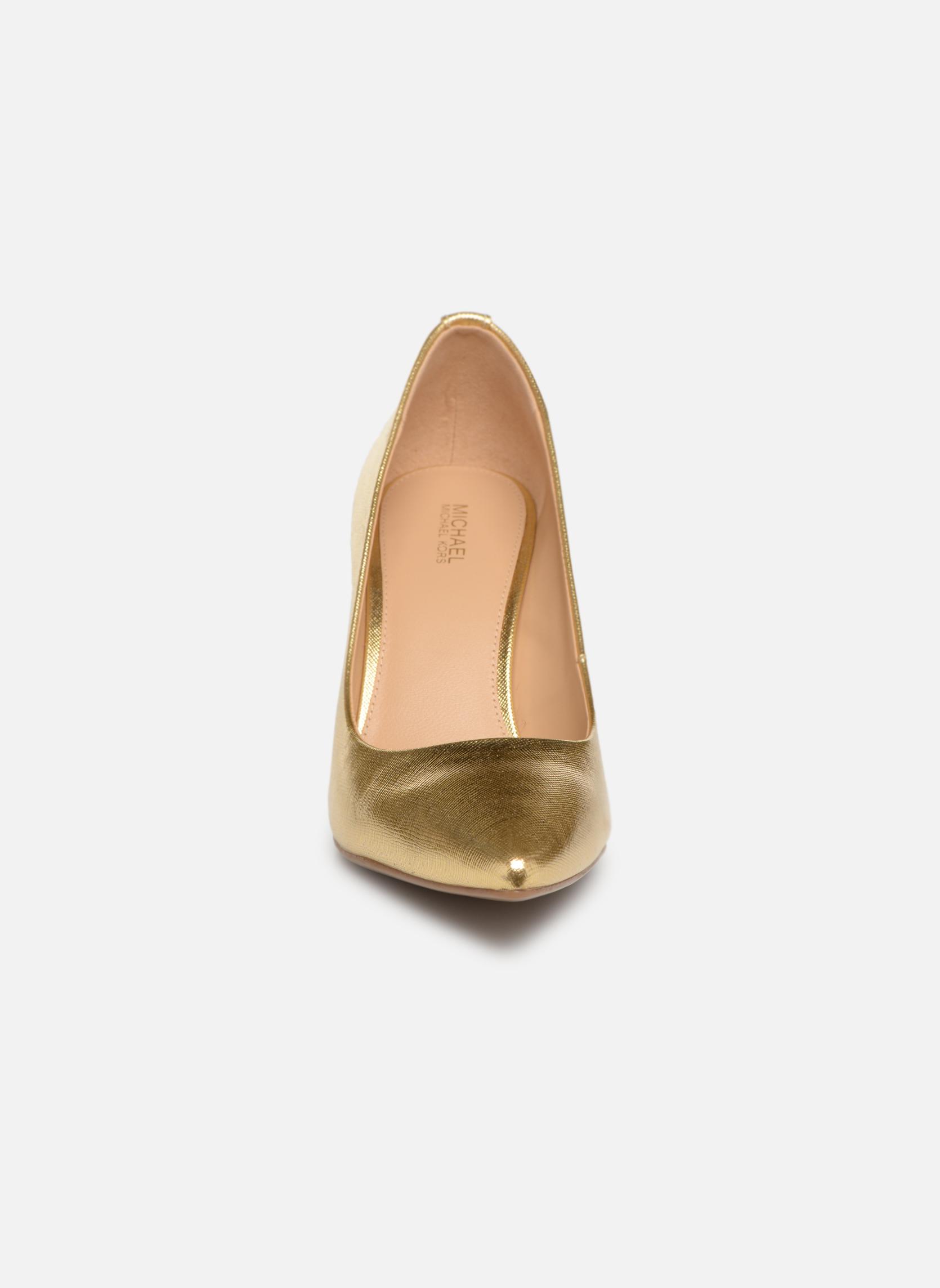 Pumps Michael Michael Kors MK-Flex Mid Pump gold/bronze schuhe getragen