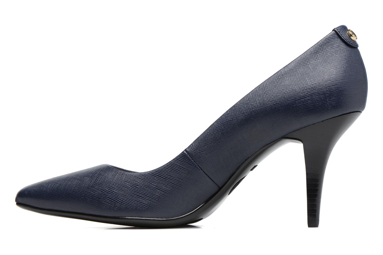 Zapatos de tacón Michael Michael Kors MK Flex Mid Pump W Azul vista de frente