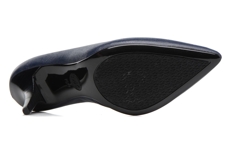 Zapatos de tacón Michael Michael Kors MK Flex Mid Pump W Azul vista de arriba