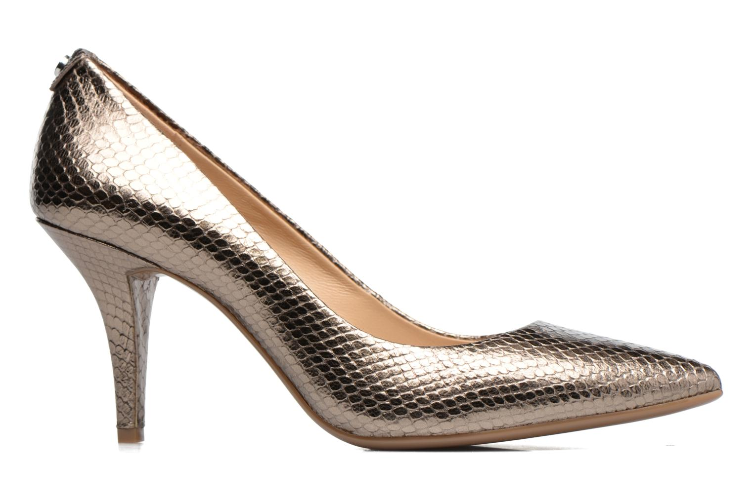 High heels Michael Michael Kors MK Flex Mid Pump W Bronze and Gold back view