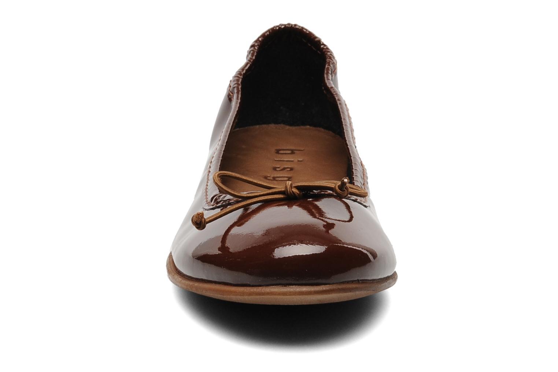 Ballerines Bisgaard Jujube Cuir Marron vue portées chaussures