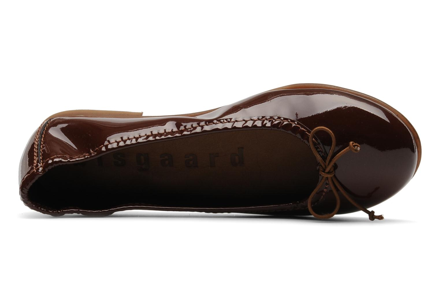 Ballet pumps Bisgaard Jujube Cuir Brown view from the left