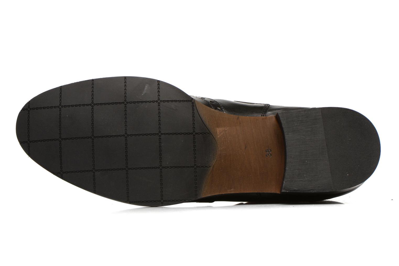 Bottines et boots Georgia Rose Perle Noir vue haut