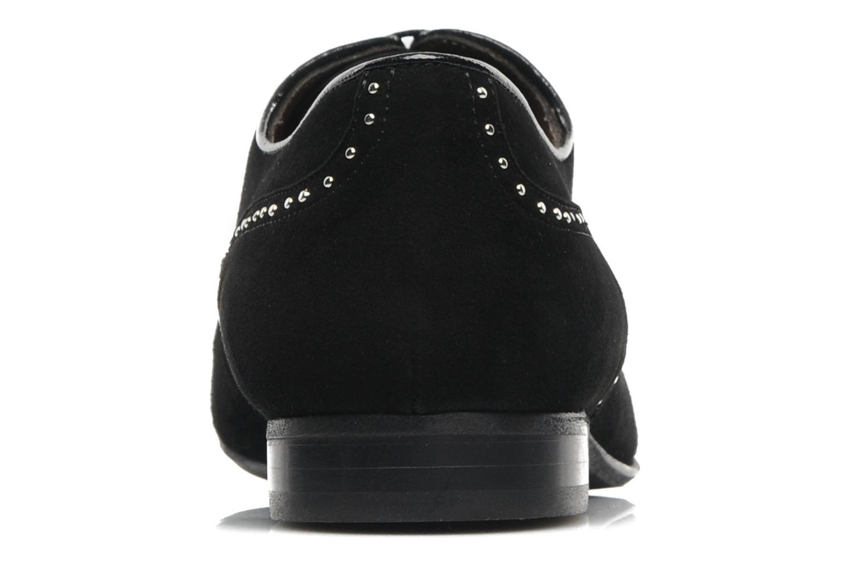 Zapatos con cordones Georgia Rose Percheron Negro vista lateral derecha
