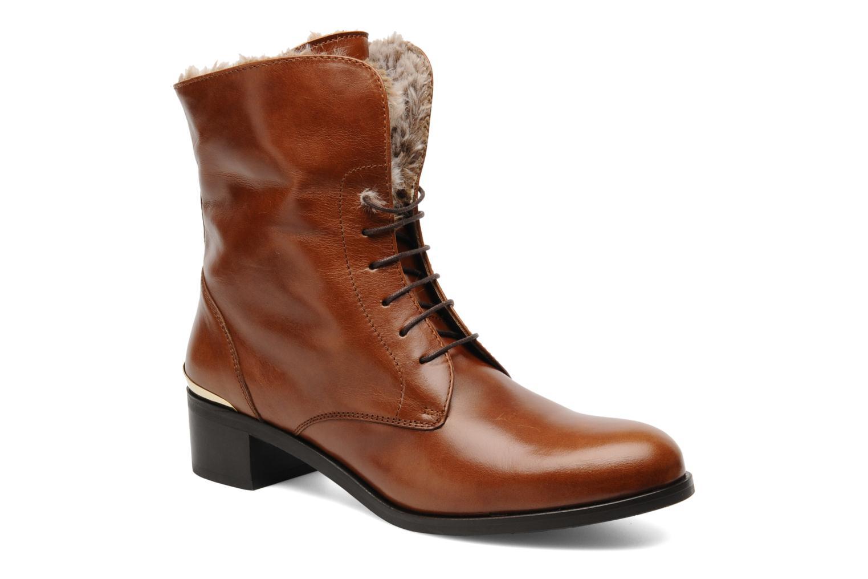 Bottines et boots Georgia Rose Permoute Marron vue 3/4