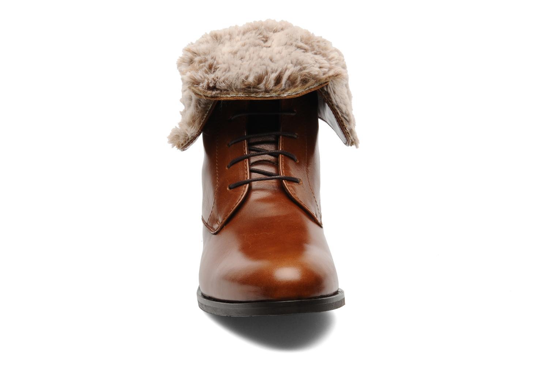 Bottines et boots Georgia Rose Permoute Marron vue portées chaussures