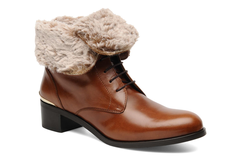 Bottines et boots Georgia Rose Permoute Marron vue détail/paire