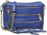 Genuine leather Electric blue