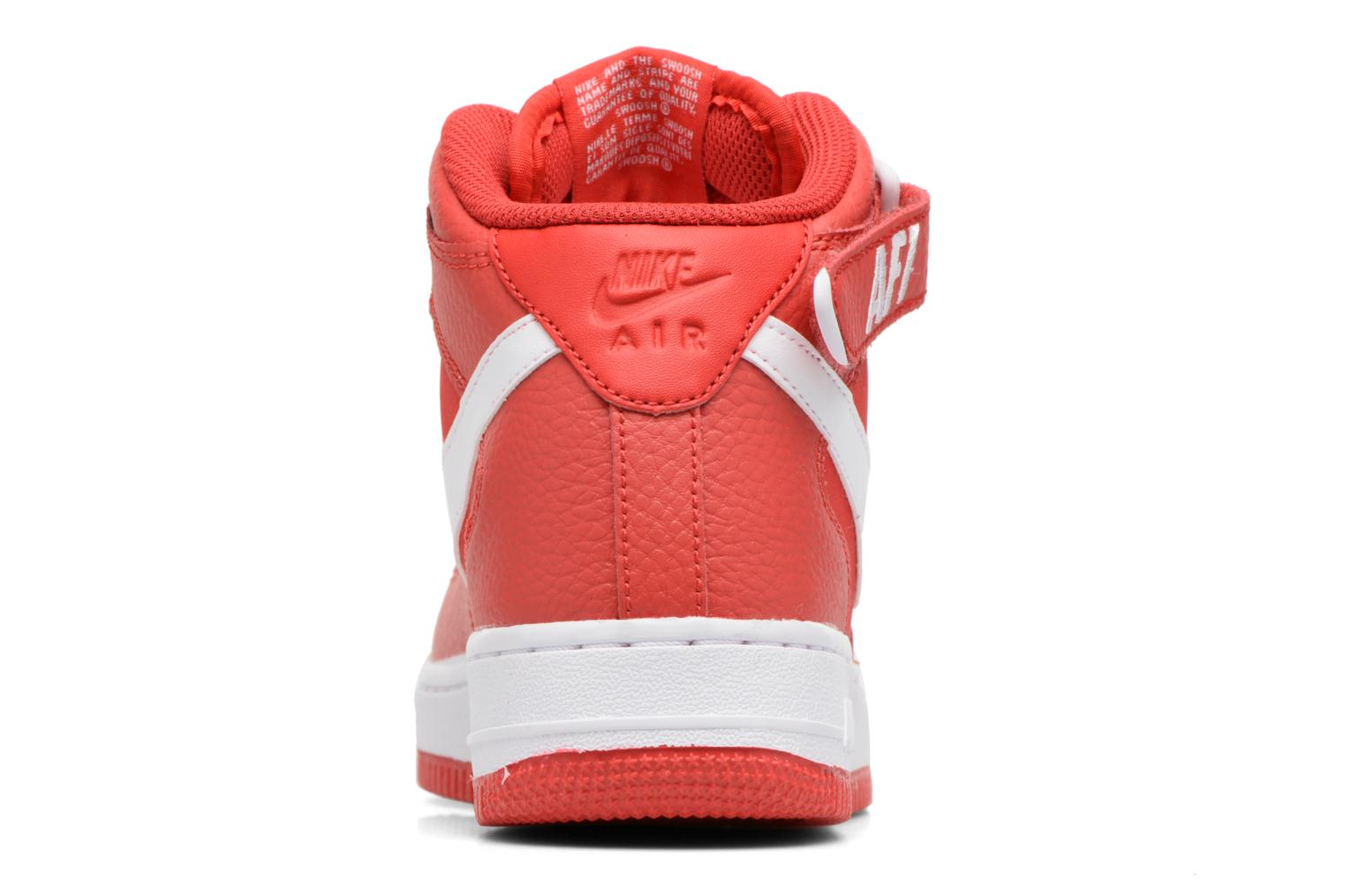 Baskets Nike Air Force 1 Mid (Gs) Rouge vue droite