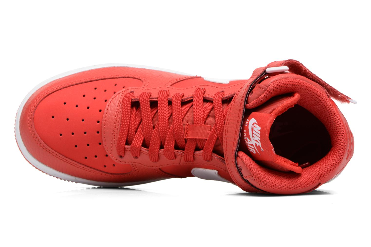 Baskets Nike Air Force 1 Mid (Gs) Rouge vue gauche