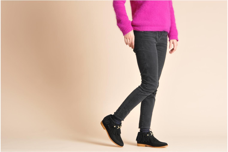 Stiefeletten & Boots F-Troupe Fringy blau ansicht von unten / tasche getragen