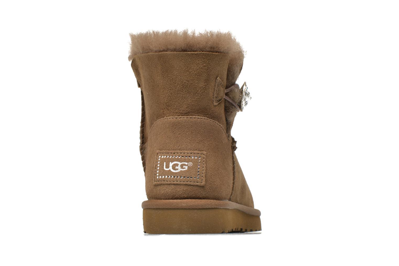 Boots en enkellaarsjes UGG Mini Bailey Button Bling Bruin rechts