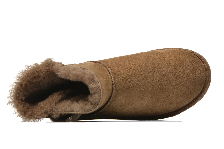 Boots en enkellaarsjes UGG Mini Bailey Button Bling Bruin links