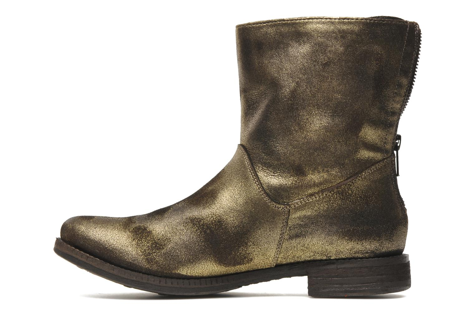 Bottines et boots Khrio Cuma Or et bronze vue face