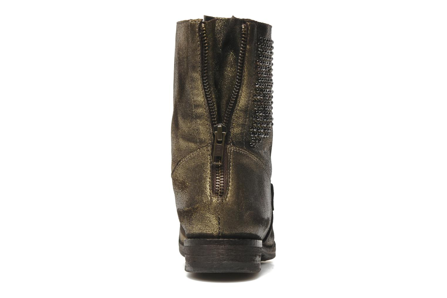 Ankle boots Khrio Cuma Bronze and Gold view from the right