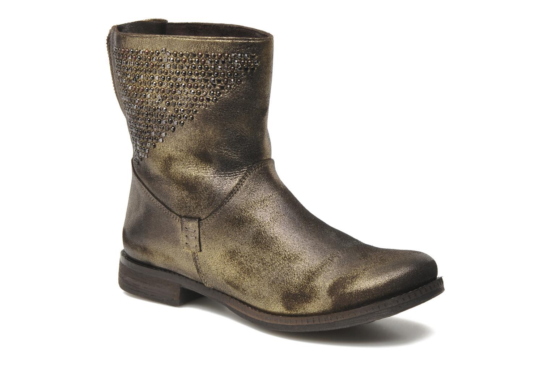 Boots Khrio Cuma Bronze och Guld detaljerad bild på paret