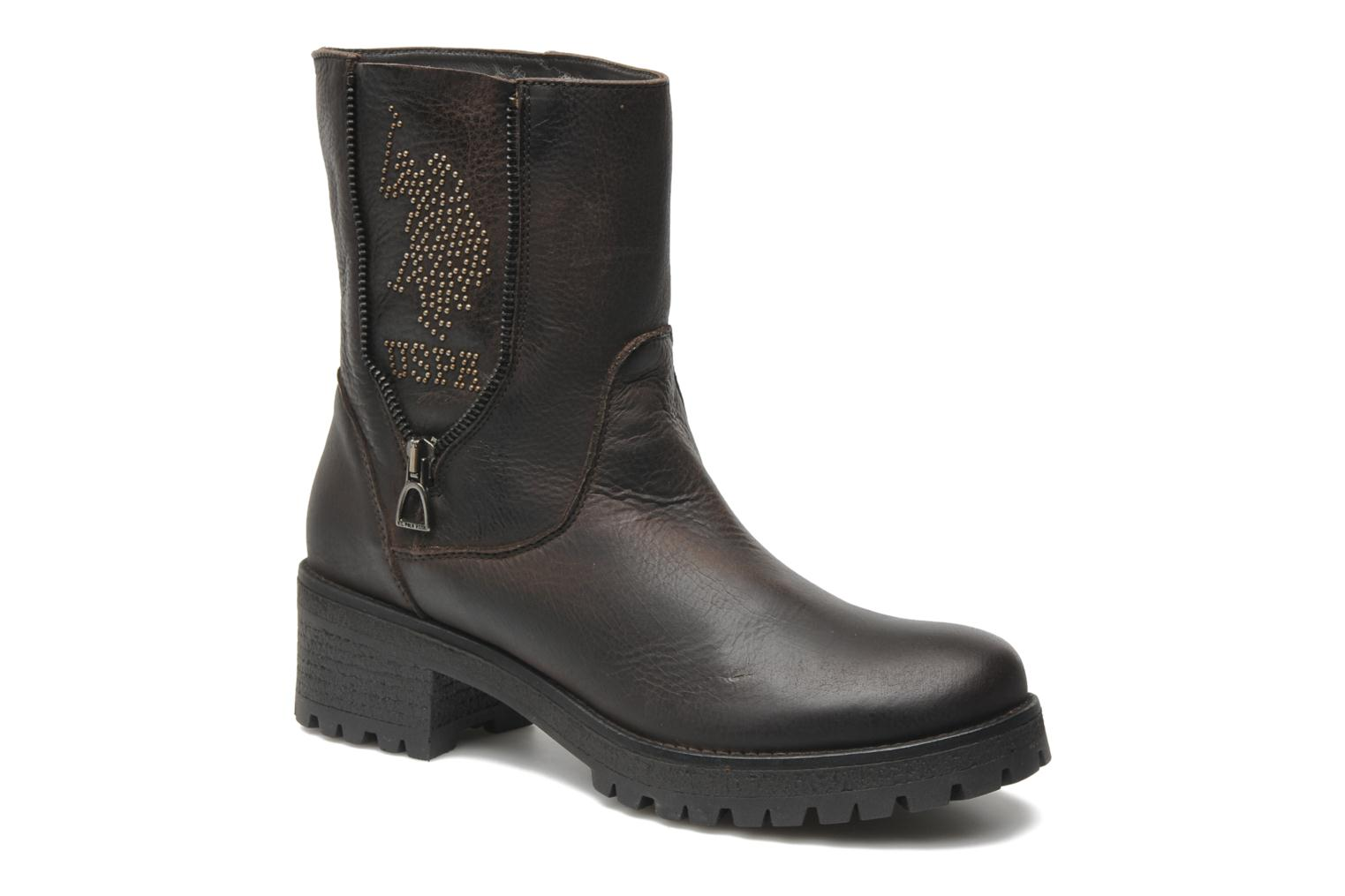 Bottines et boots U.S Polo Assn. Federica Leather Marron vue détail/paire