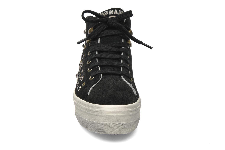 Sneaker No Name Plato hight cut Studs schwarz schuhe getragen