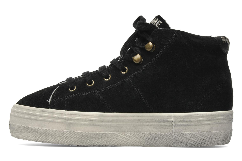 Sneaker No Name Plato hight cut Studs schwarz ansicht von vorne