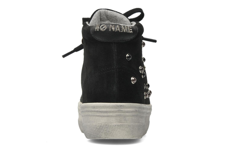 Sneaker No Name Plato hight cut Studs schwarz ansicht von rechts