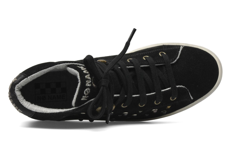 Sneaker No Name Plato hight cut Studs schwarz ansicht von links