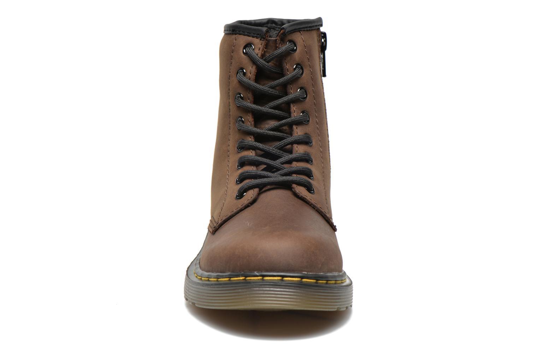 Stiefeletten & Boots Dr. Martens Juniors Delaney Lace boot braun schuhe getragen