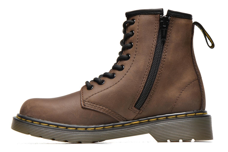 Bottines et boots Dr. Martens 1460 J Marron vue face