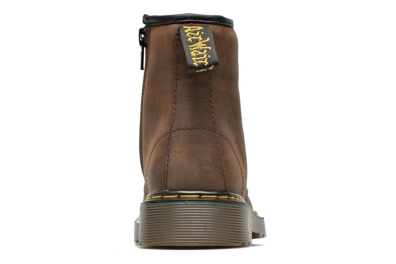 Ankelstøvler Dr. Martens Juniors Delaney Lace boot Brun Se fra højre