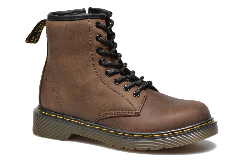Ankelstøvler Dr. Martens Juniors Delaney Lace boot Brun detaljeret billede af skoene