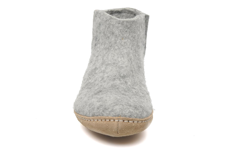 Chaussons Glerups Poras W Gris vue portées chaussures