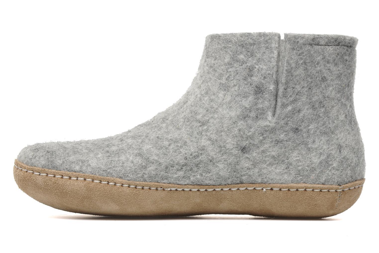 Slippers Glerups Poras W Grey front view