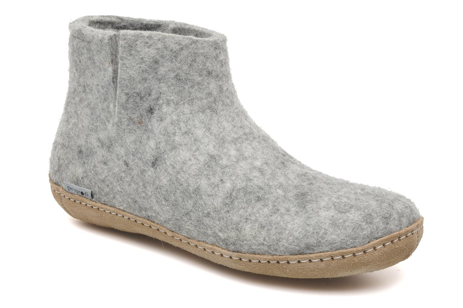 Slippers Glerups Poras W Grey detailed view/ Pair view