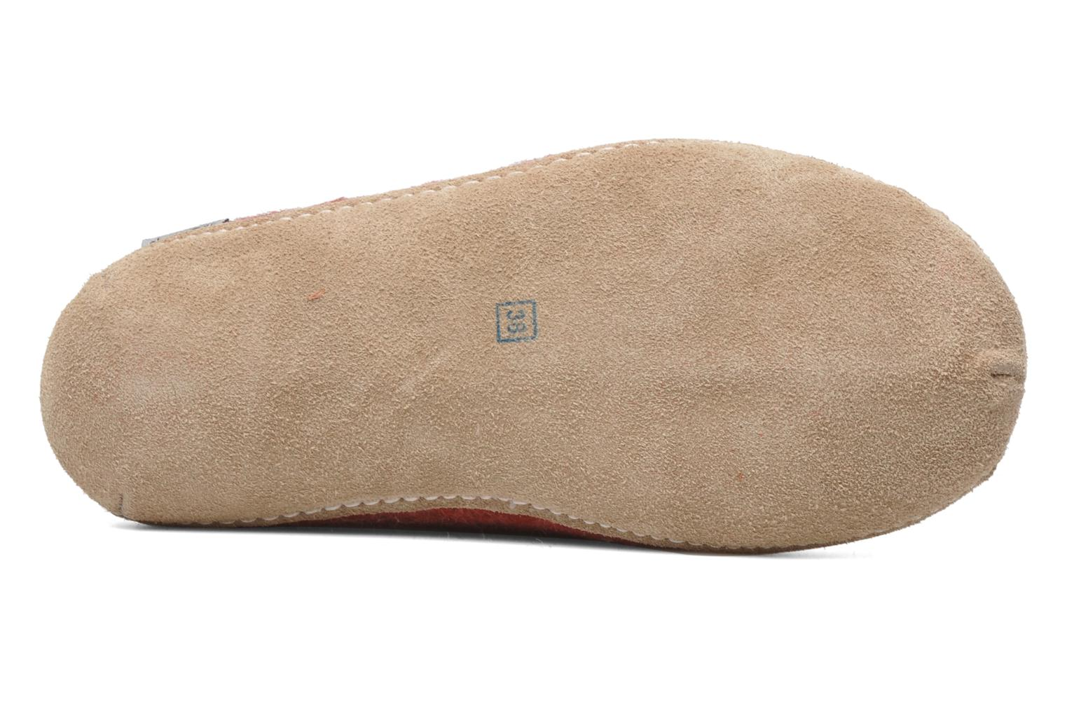 Slippers Glerups Poras W Red view from above