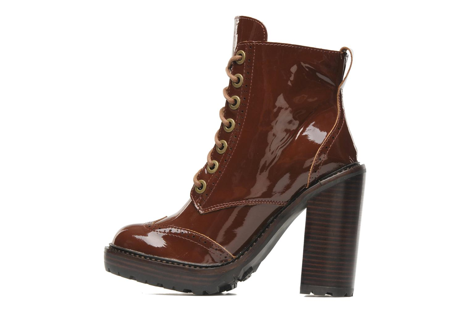 Ankle boots Jeffrey Campbell Forks Brown front view