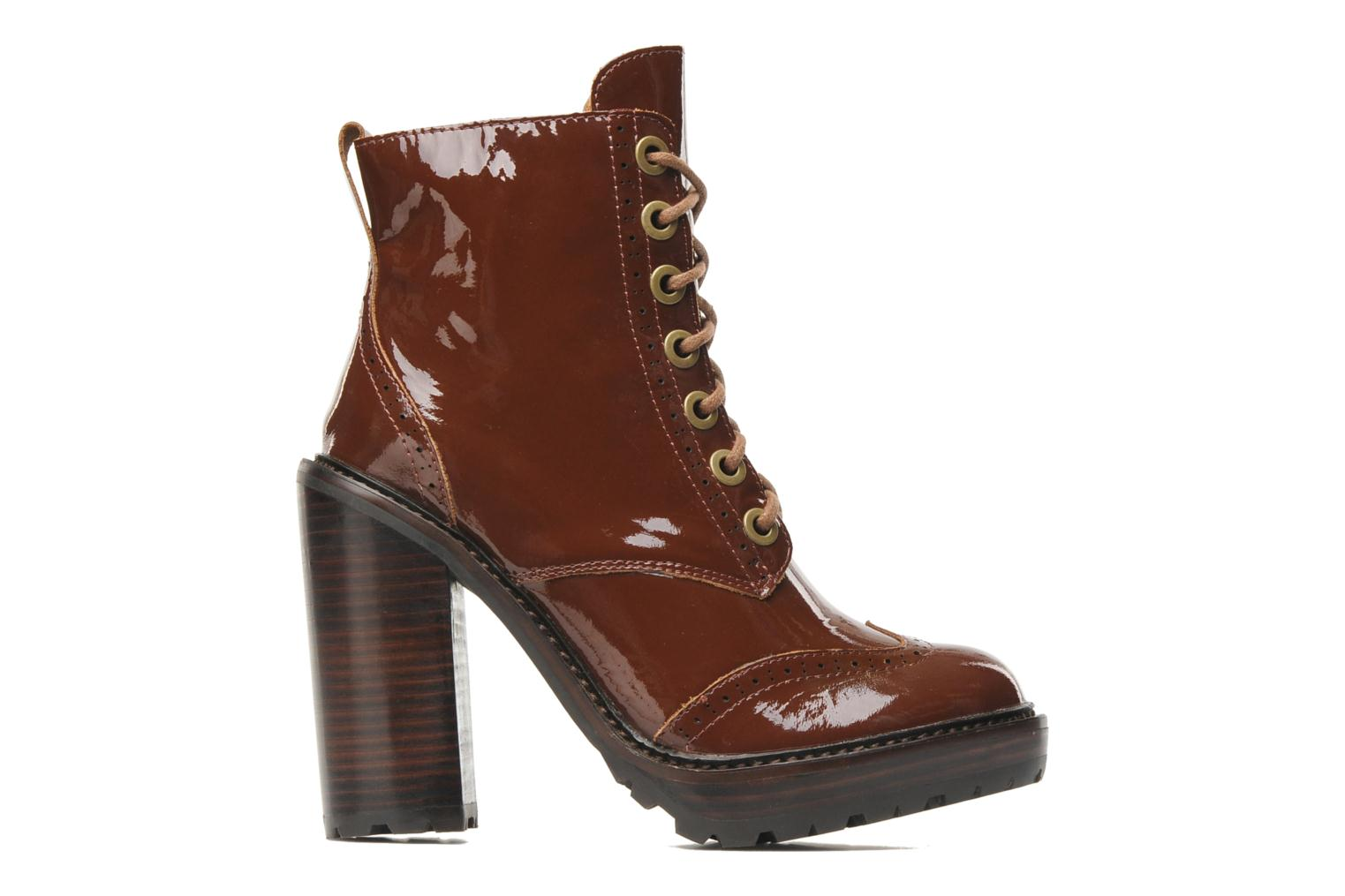 Ankle boots Jeffrey Campbell Forks Brown back view