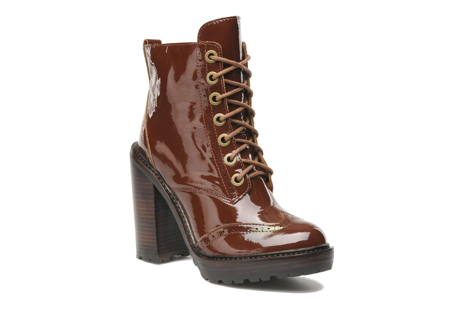 Ankle boots Jeffrey Campbell Forks Brown detailed view/ Pair view