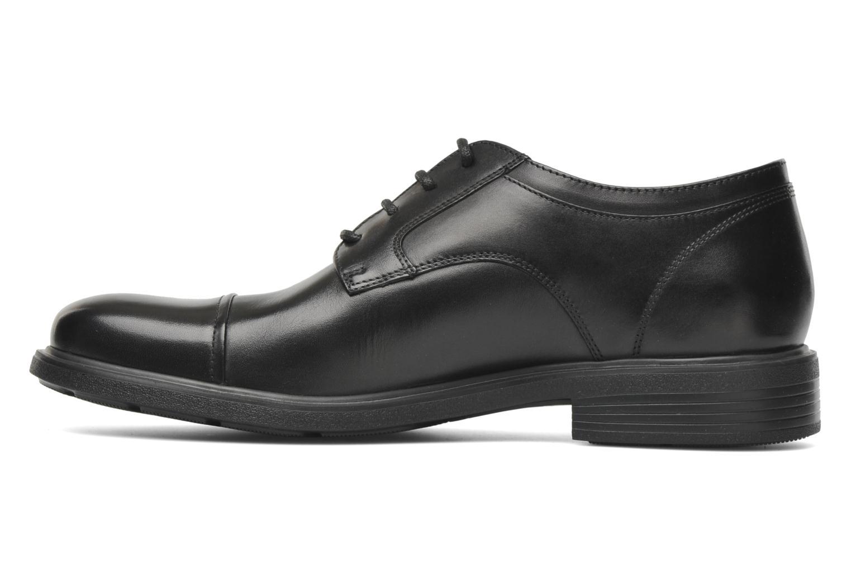 Lace-up shoes Geox U DUBLIN C U34R2C Black front view