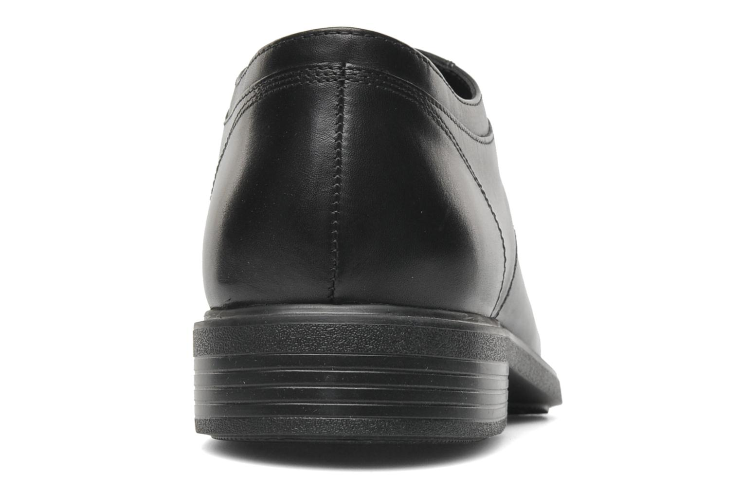 Lace-up shoes Geox U DUBLIN C U34R2C Black view from the right
