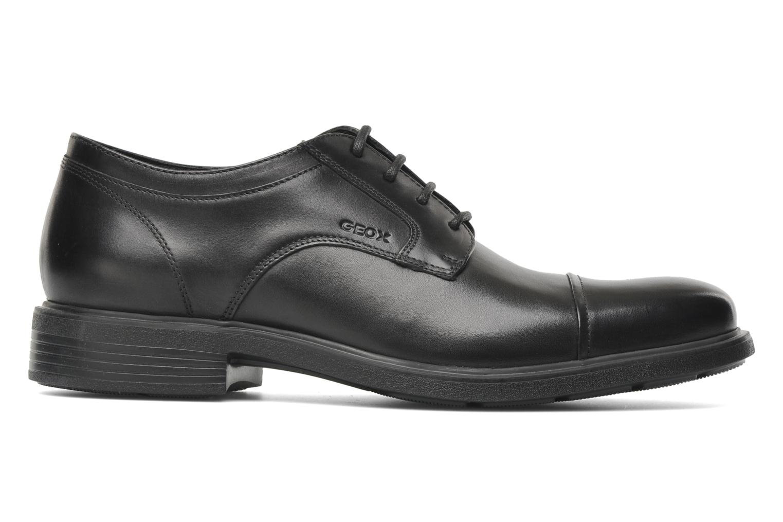 Lace-up shoes Geox U DUBLIN C U34R2C Black back view