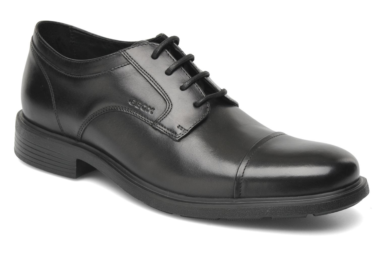 Lace-up shoes Geox U DUBLIN C U34R2C Black detailed view/ Pair view