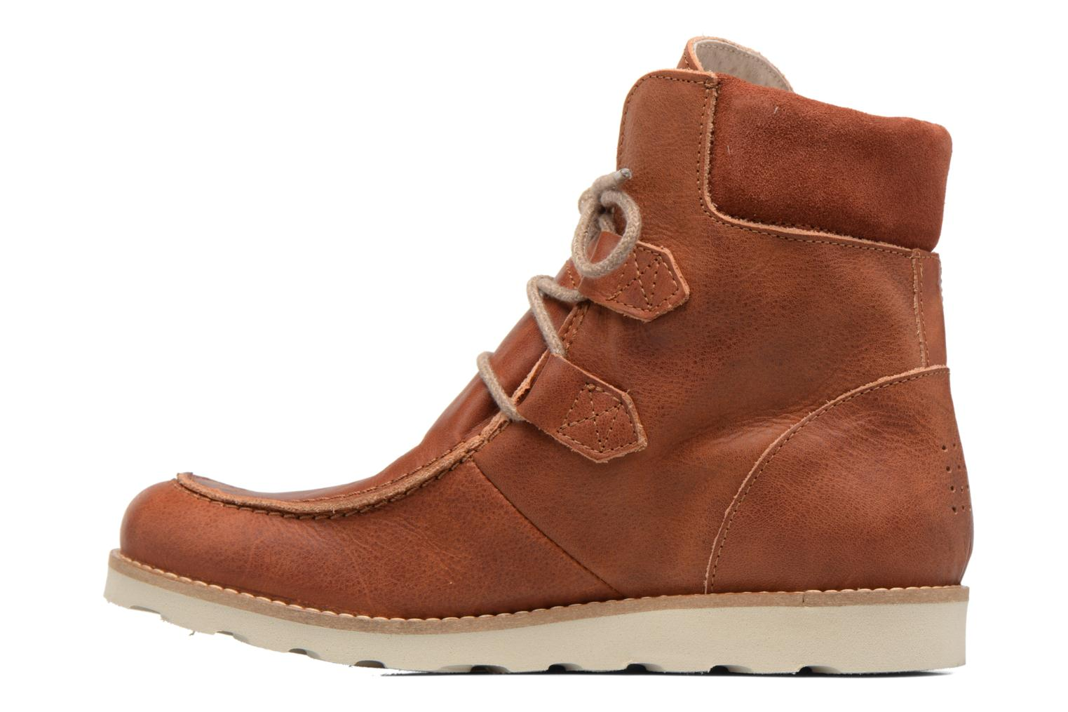 Ankle boots TBS Ariana Brown front view