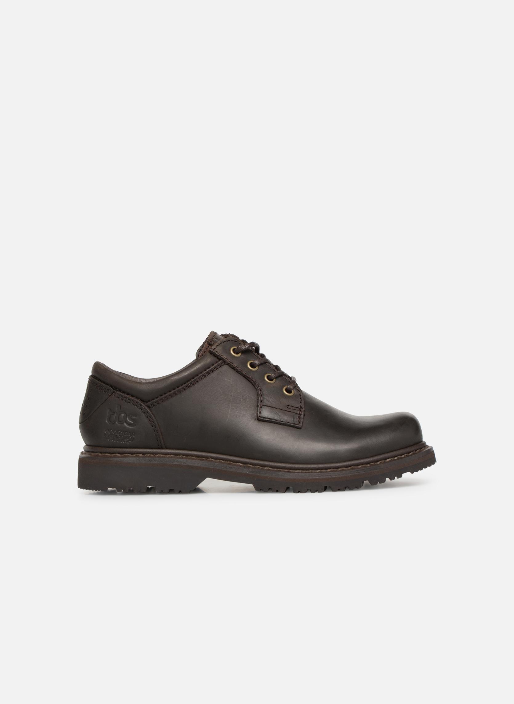 Chaussures à lacets TBS Stuart Marron vue derrière
