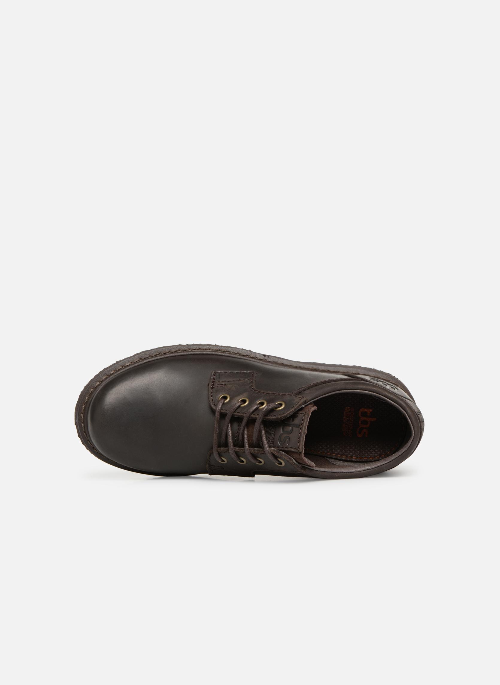 Chaussures à lacets TBS Stuart Marron vue gauche