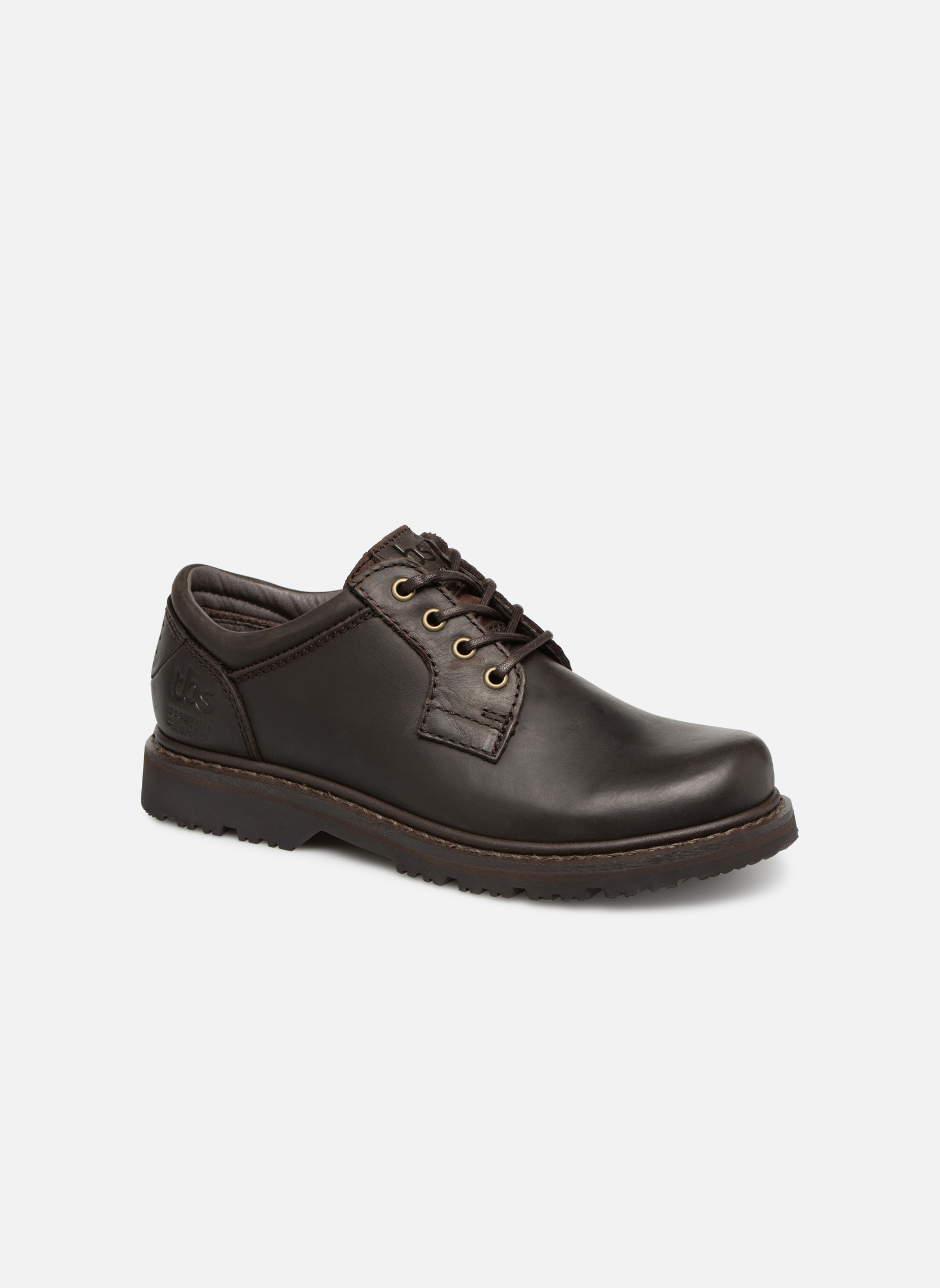 Chaussures à lacets TBS Stuart Marron vue détail/paire