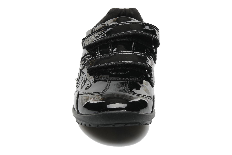 Baskets Geox J BON BON D Noir vue portées chaussures